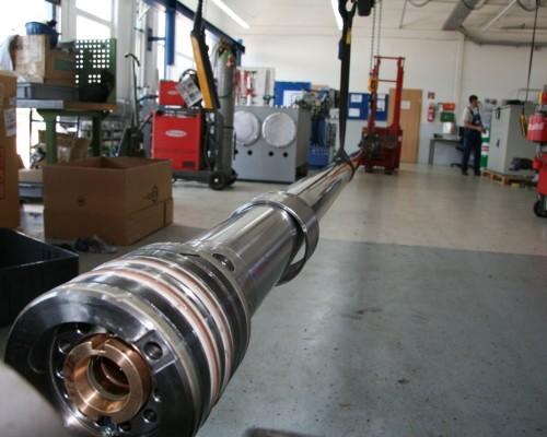 Demontage Hubzylinder Kran